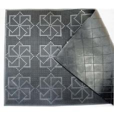 Коврик придверный 58х36,5 см черный с геометрическим узором