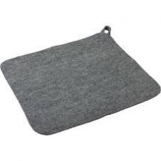 Коврик ткань  серый