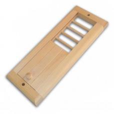 Вентиляционная решетка малая с задвижкой (липа)