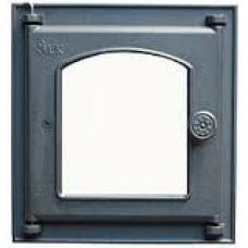 Дверца топочная 351 LK, 210х250, со стеклом