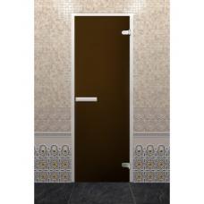 Стеклянная дверь DoorWooD ALUM Бронза 700x1900