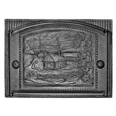 Дверца каминная ДК-2 375х300, краш. с рисунком (Рубцовск)