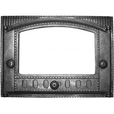 Дверца каминная ДК-2С 375х300, краш. под стекло (Рубцовск)