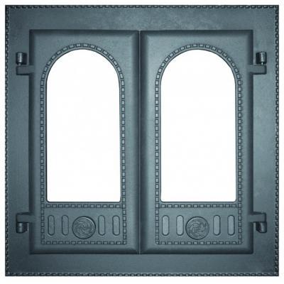 Дверца каминная ДК-6С , под стекло, двухстворчатая (Рубцовск)