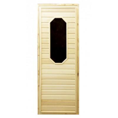 Дверь для бани и сауны с восьмиугольным стеклом