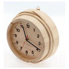 """Часы круглые для бани \""""На баньку время не жалей\"""""""