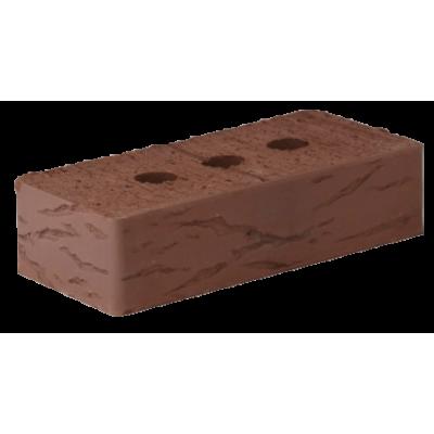 Кирпич полнотелый одинарный лицевой коричневый 250*120*65 Руст