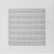 Решетка вентиляционная Kratki белая 17*17 c жалюзи