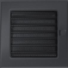 Решетка вентиляционная Kratki графитовая 17*17 c жалюзи