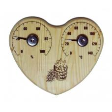 Термометр  2 в 1 серце