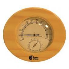 Термометр с гигрометром овальный