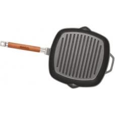 Сковородка-гриль чугунная 280х280 со съемной ручк.без крышки